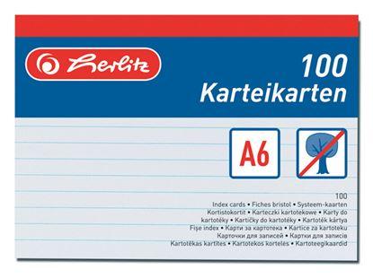 Obrázek Náhradní karty do kartotéky - karty A6 / 100 ks