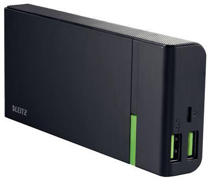 Obrázek Přenosná USB nabíječka Leitz Complete - černá / 10400mAh