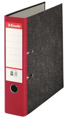Obrázek Pořadač A4 pákový papírový s barevným hřbetem - hřbet 7,5 cm / červená / 36067