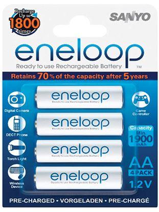 Obrázek Nabíjecí baterie Eneloop - 4 ks / AA