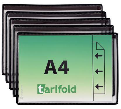 Obrázek Kapsy magnetické Tarifold - černé / na šířku / 5 ks