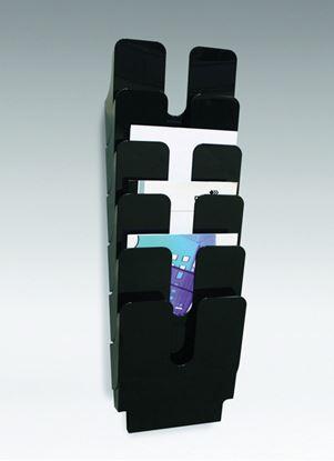 Obrázek Držáky na prospekty Durable -  Flexiplus 6 / A4 černý / na výšku