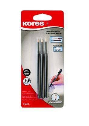 Obrázek Náplň Kores Jumbo K5+K6 Pen -  černá