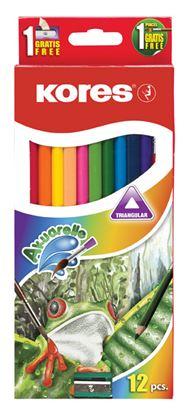 Obrázek Pastelky trojhranné Kores Aquarel / akvarelové - 12 barev