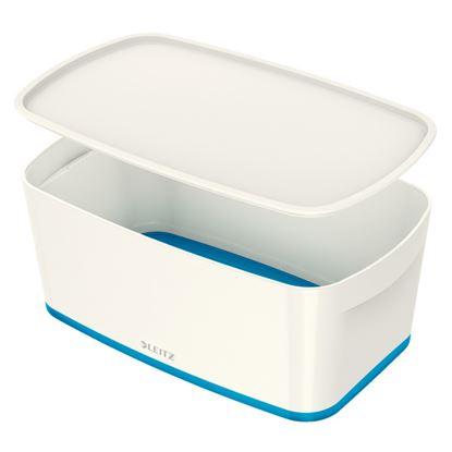Obrázek Organizační box MyBox - s víkem S / bílo - modrá