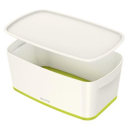 Obrázek Organizační box MyBox - s víkem S / bílo - zelená