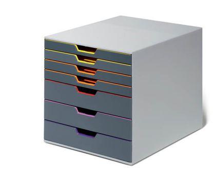 Obrázek Zásuvkový box VARICOLOR® - 7 zásuvek / šedá
