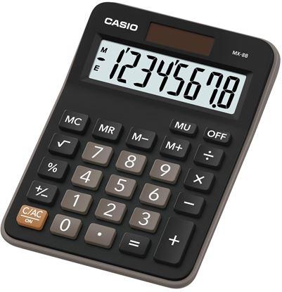Obrázek Casio MX 8 B BK stolní kalkulačka displej 8 míst