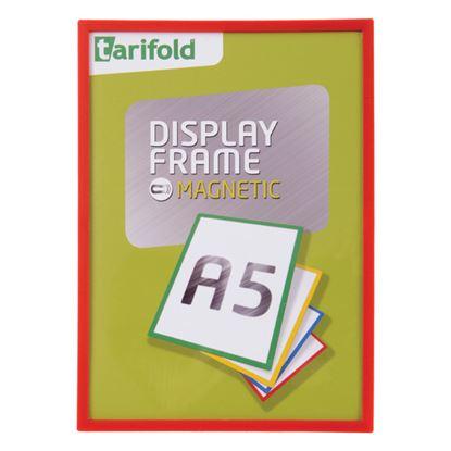 Obrázek Kapsy magnetické Tarifold Display Frame -  A5 / červená