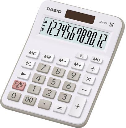 Obrázek Kalkulačka Casio MX - 12 B / displej 12 míst / bílá