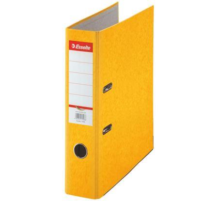 Obrázek Pořadač A4 pákový kartonový Rainbow - hřbet 7,5 cm / žlutá / 17928