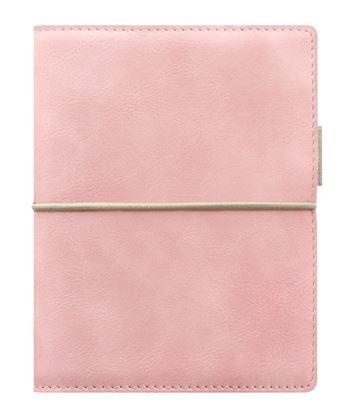 Obrázek Diář Filofax Domino Soft - kapesní / 81 x 120 mm / pastelová růžová