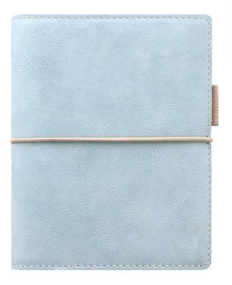 Obrázek Diář Filofax Domino Soft - kapesní / 81 x 120 mm / pastelová modrá