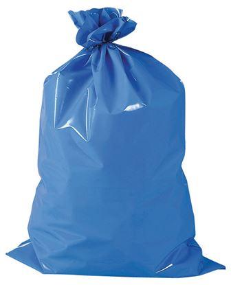 Obrázek Pytle na odpad PE 70x110 cm x 0,04 mm 40 my 25 ks modrá
