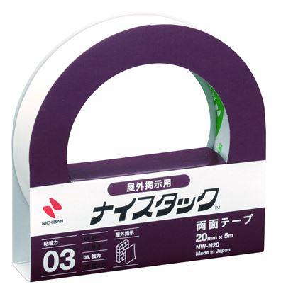 Obrázek Lepicí pásky oboustranné Nichiban NICETACK - na venkovní použití / 20 mm x 5 m
