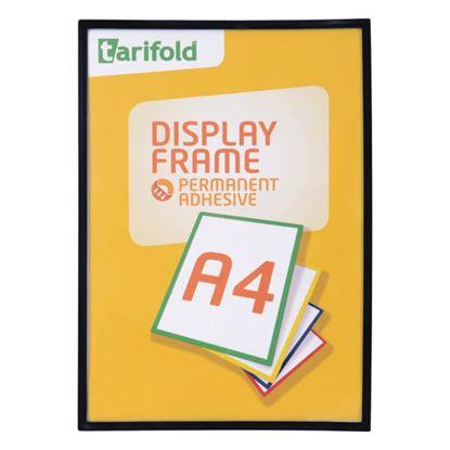 Obrázek Kapsy samolepicí Tarifold Display Frame - A4 / černá