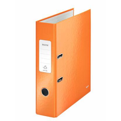 Obrázek Pořadač A4 pákový Leitz 180° WOW - hřbet 8 cm / oranžová / 10050044