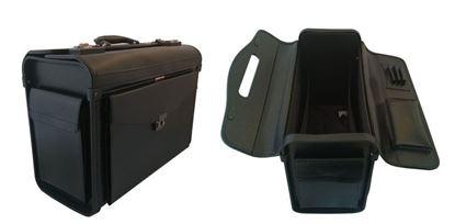 Obrázek Pilotní kufr Attache - černá / bez koleček