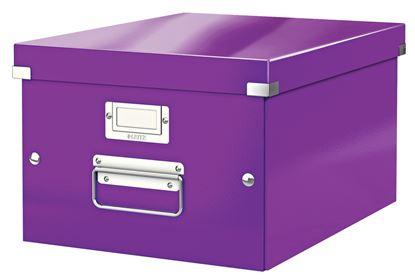 Obrázek Krabice Leitz Click & Store - M střední / fialová