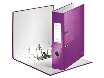 Obrázek Pořadač A4 pákový Leitz 180° WOW - hřbet 8 cm / fialová / 10050062