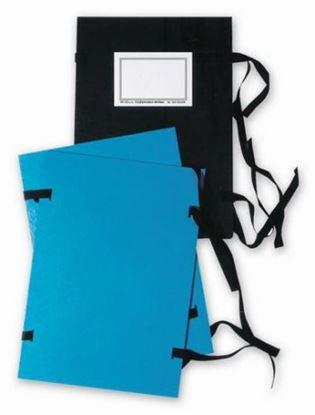 Obrázek Spisové desky s tkanicí - A5 / černá