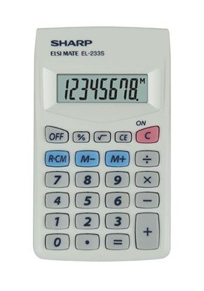 Obrázek Kalkulačka Sharp EL 233S - displej 8 míst