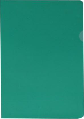 Obrázek Zakládací obal A4 barevný - tvar L / zelená / 100 ks