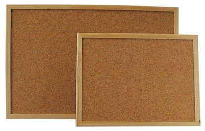 Obrázek Tabule korkové - 60 x 90 cm / dřevěný rám