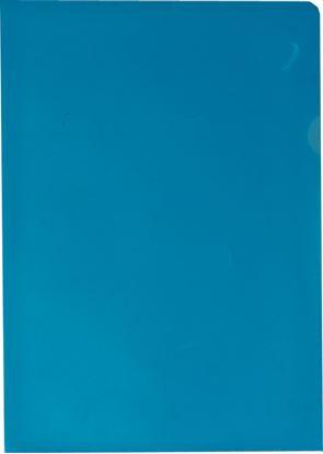 Obrázek Zakládací obal A4 barevný - tvar L / modrá / 100 ks