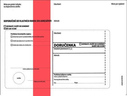 Obrázek Obálky C5 s doručenkou, vytrhovací okénko - s červeným pruhem / 1000 ks