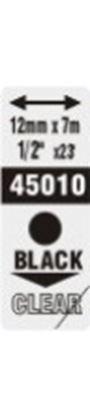 Obrázek Pásky D1 standardní - 12 mm x 7 m / černý tisk / čirá páska