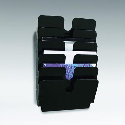 Obrázek Držáky na prospekty Durable -  Flexiplus 6 / A4 černý / na šířku
