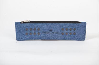 Obrázek Studentské pouzdro GRIP s gumou - světle modrá