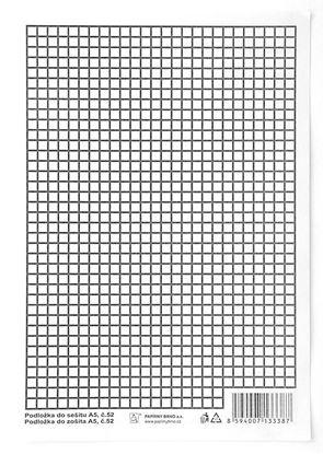 Obrázek Podložky do sešitů papírové + PVC - podložka A4 / linka - čtvereček / papírová