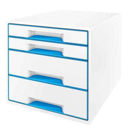 Obrázek Zásuvkový box Leitz WOW -  modrá / 2+2 zásuvky