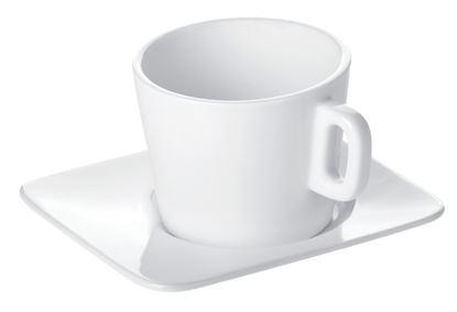 Obrázek Porcelánové šálky s podšálkem Gustito -  na cappuccino
