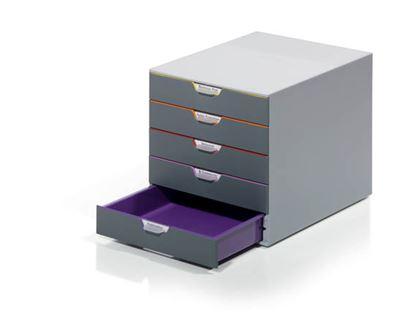 Obrázek Zásuvkový box VARICOLOR® - 5 zásuvek / šedá