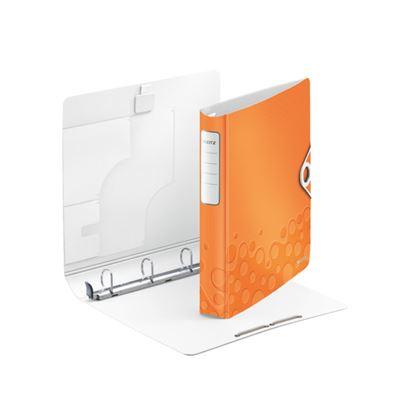 Obrázek Mobilní pořadač A4 kroužkový WOW - 4 - kroužek / oranžová / 42400044