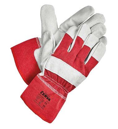 Obrázek Ochranné rukavice kombinované - EIDER / vel.11 červená