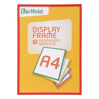 Obrázek Kapsy magnetické Tarifold Display Frame - A4 / červená