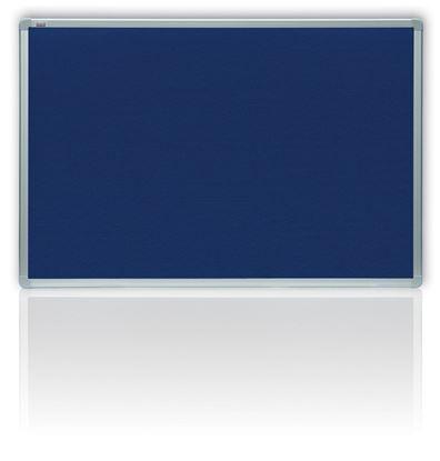 Obrázek Tabule filcová v hliníkovém rámu - 90 x 120 cm / modrá