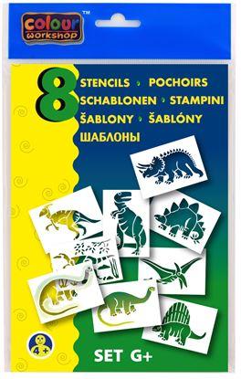Obrázek Šablony pro foukací fixy 9996 Centropen - G / dinosauři