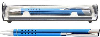 Obrázek Kuličkové pero Veno Rubber - světle modrá