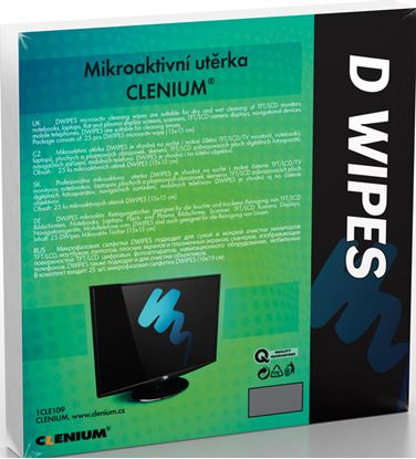 Obrázek Mikroaktivní suchá utěrka Clenium - 15 x 15 cm / 25 ks