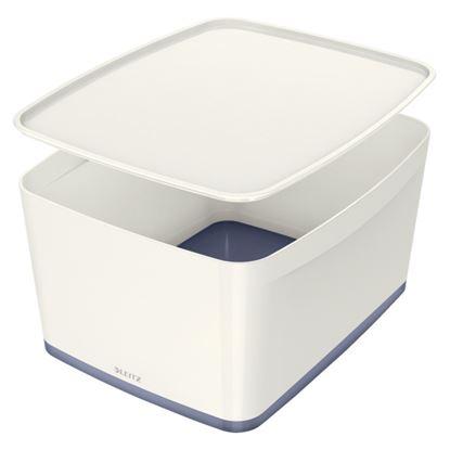 Obrázek Organizační box MyBox - s víkem L / bílá