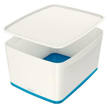 Obrázek Organizační box MyBox - s víkem L / bílo - modrá