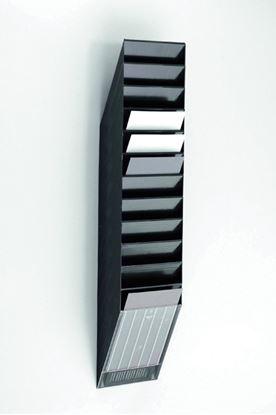 Obrázek Držáky na prospekty Durable - Flexiboxx 12 / A4 černý / na výšku