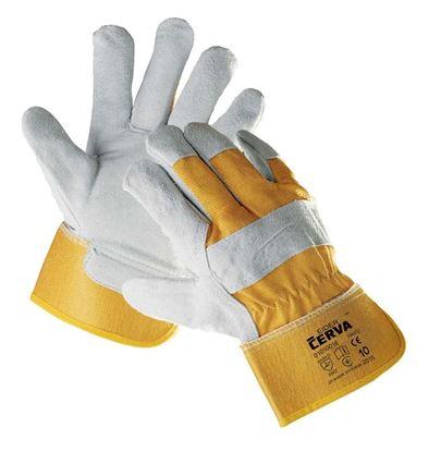 Obrázek Ochranné rukavice kombinované - EIDER / vel.10 žlutá