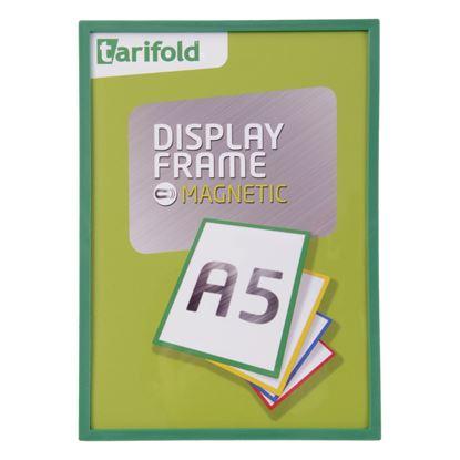 Obrázek Kapsy magnetické Tarifold Display Frame -  A5 / zelená
