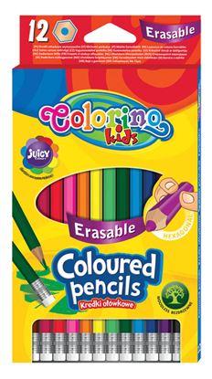 Obrázek Pastelky Colorino gumovací - 12 barev
